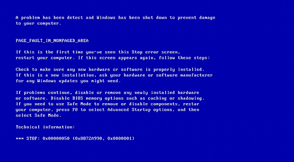 BSoD Windows XP