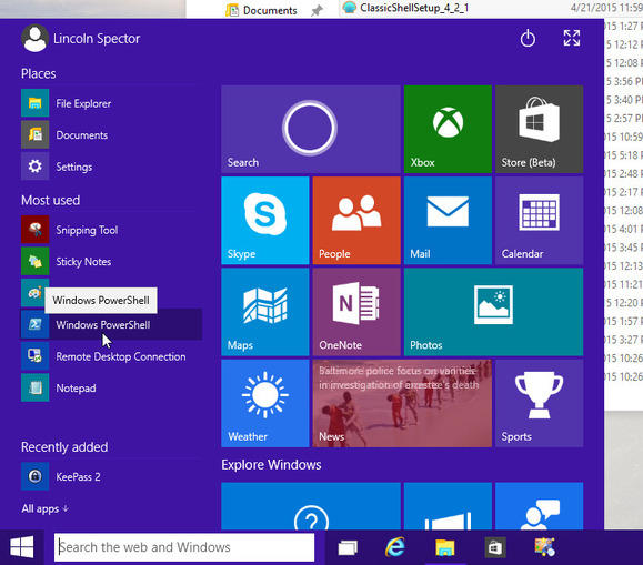 0518 windows 10 start menu